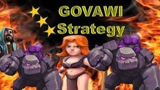 How to th9 war attack strategy with golem wizard valkeryi (gowival) clash of clans