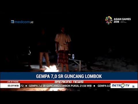 Lombok Gelap Gulita Pasca Gempa Besar, Warga Nyalakan Api Unggun