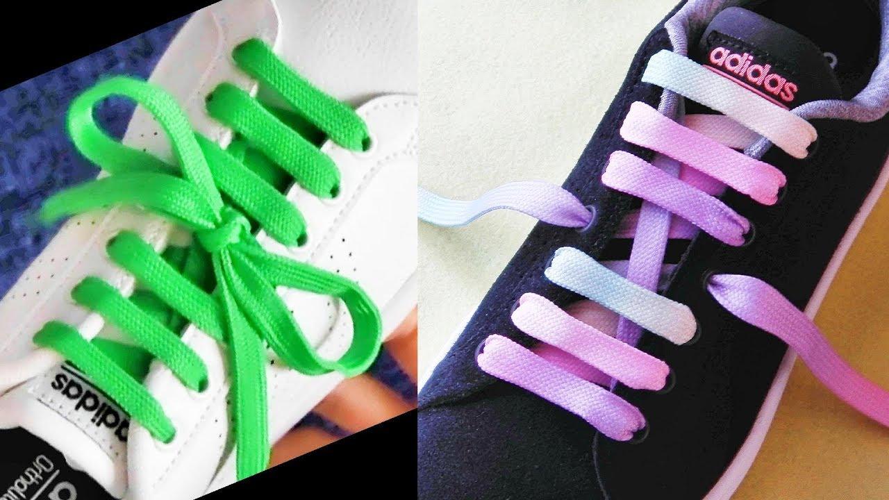 〔靴紐の結び方〕結び目が真ん中になる靴ひもの通し方 センター結び how to tie shoelaces 〔生活に役立つ!〕