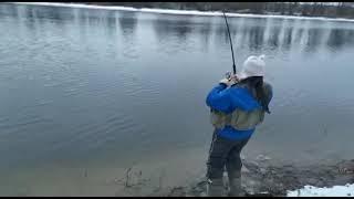 Рыбалка на нижней Москва реке 02 01 2020 г