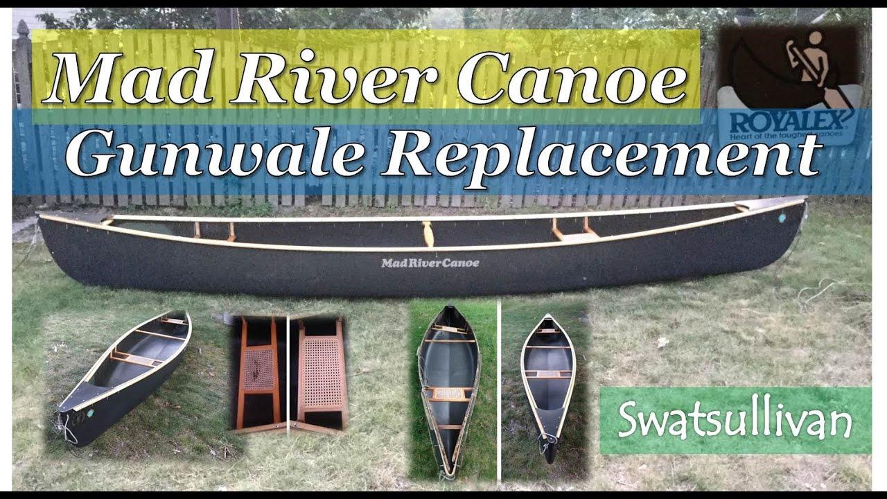 mad river canoe | gunwale replacement - youtube  gunwales canoe diagram