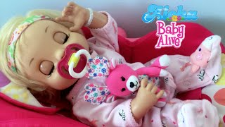 Baby Alive Learns to Potty Layla! Pretend Feeding and Nap �💖�