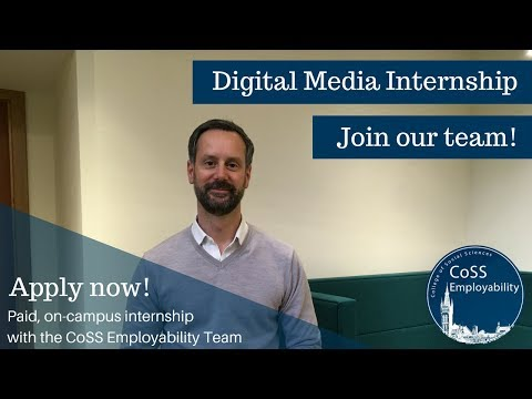 We're Recruiting! Digital Media Intern Vacancy