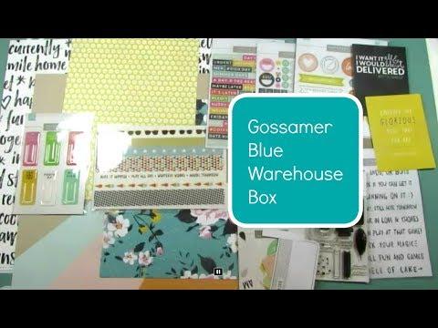 Scrapbook Haul: Gossamer Blue Warehouse Box
