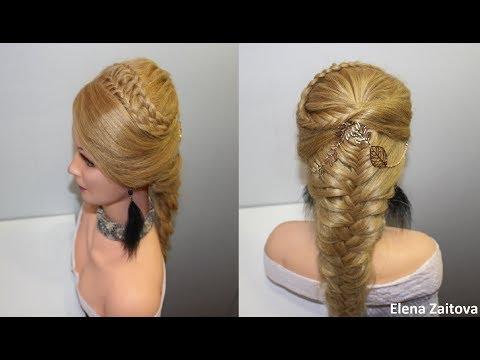 как сделать прически из кос водопад