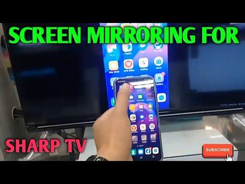 How To Screen Mirror Sharp Tv