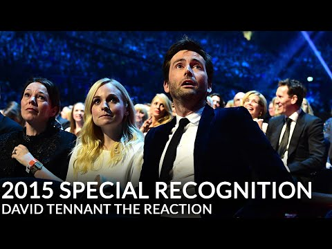 David Tennant at the NTA awards. His reaction is so sweet and priceless