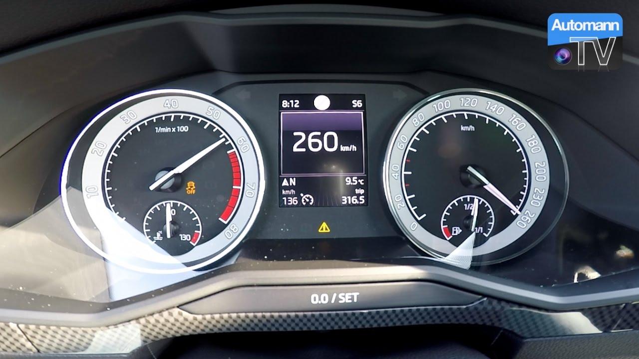 Skoda Superb SportLine (280hp) - 0-260 km/h LAUNCH CONTROL ...