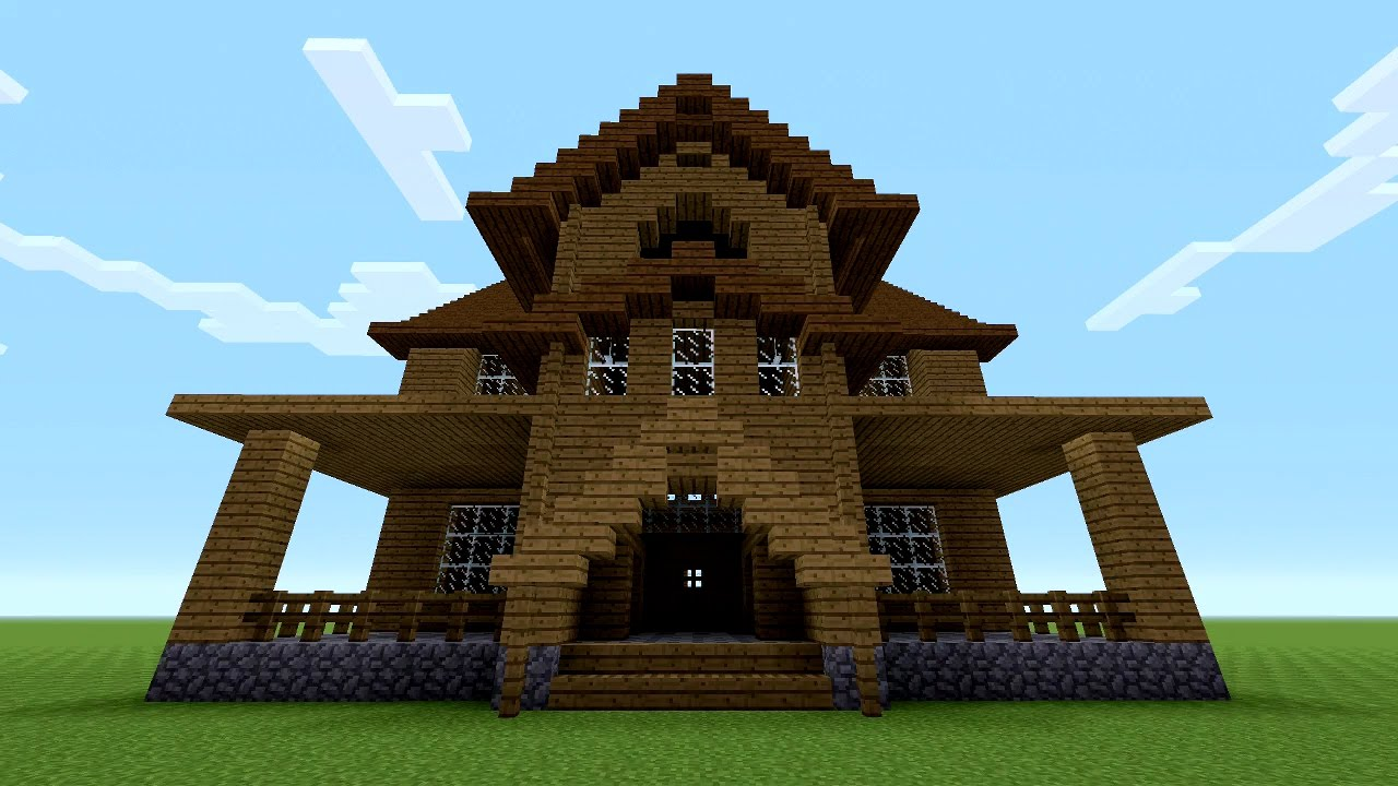 Minecraft How To Build A Wooden House Youtube