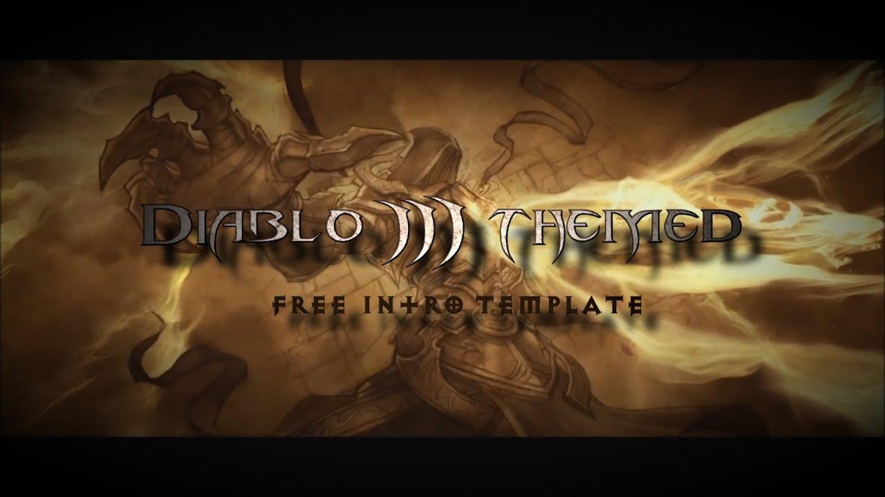free diablo 3 themed sony vegas pro 12 intro template - youtube, Powerpoint templates