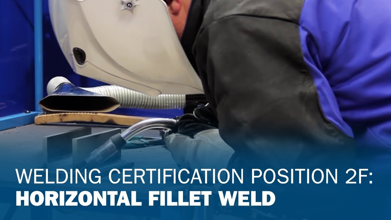 Welding Certification Position 2f Horizontal Fillet Weld Youtube