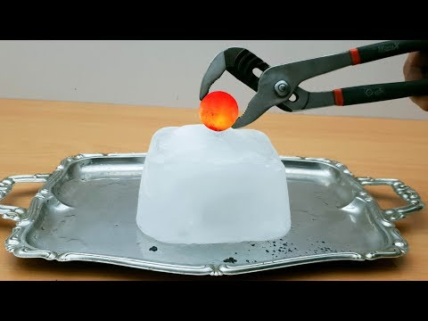 EXPERIMENT Glowing 1000 Degree METAL BALL vs ICE
