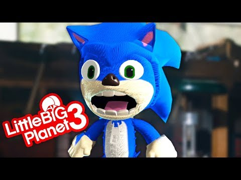 Free Sonic The Hedgehog Movie Costume - LittleBigPlanet 3 PS4 Gameplay