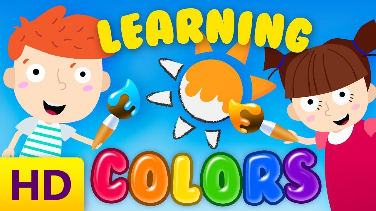 Learning colors for kindergarten children/toddlers - YouTube