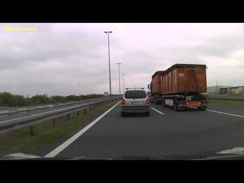 Prestigio Roadrunner 520: Timelapse Serbia - Slovenia through Croatia via highway
