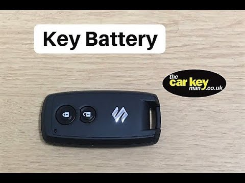 Key Battery Suzuki Proximity Keyfob How To Change Youtube