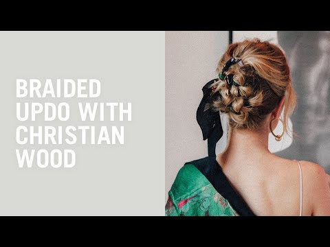 Hair Tutorial: Braided updo with Rosie HuntingtonWhiteley and Christian Wood