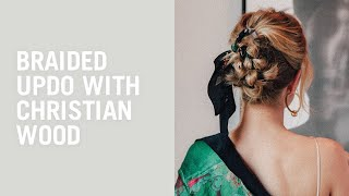 Christian Wood gives a  braided updo to Rosie Huntington-Whiteley