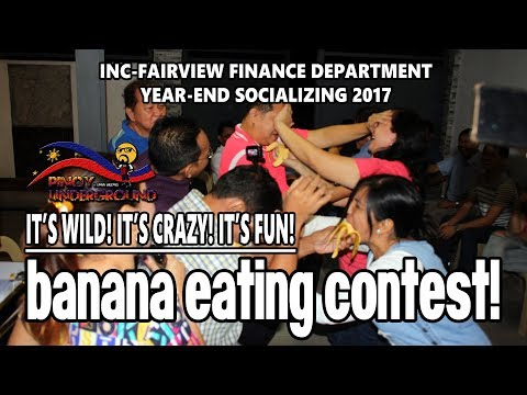 Banana Eating Contest - INC Fairview Finance Department Yearend Socializing 2017