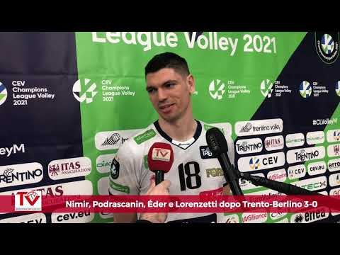 Nimir, Podrascanin, Eder e Lorenzetti dopo il 3-0 su Berlino