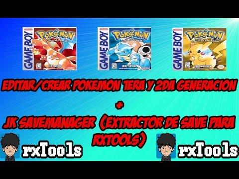 [TUTORIAL] PikaSav (Editor Pokemon 1era y 2da Generacion) +  JK SaveManager (Rxtools)