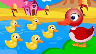 Five Little Ducks Went Out One Day | English Nursery Rhymes | Songs with Lyrics