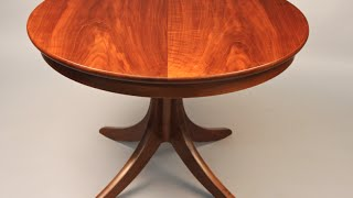 Custom Pedestal Table Handmade By Doucette And Wolfe Furniture Makers