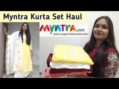 myntra-kurta-set-haul- -myntra-festive-wear- -myntra-shopping-haul