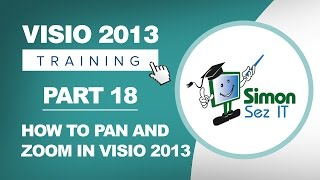 Visio 2013 for Beginners - Part 18 - How to Pan and Zoom in Microsoft Visio