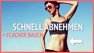 ♥ Schnell ABNEHMEN + flacher Bauch: Neues 5-Minuten-Workout!