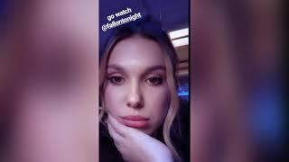 Millie Bobby Brown instagram stories May 23, 19