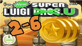 New Super Luigi U: Layer Cake Desert-6 Spinning Sandstones (All Star Coins)