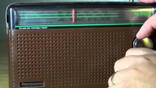 Shortwave test tuning of the Panasonic RF 562D