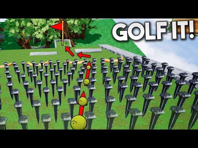 UN MAR DE CLAVOS!! DEPENDE DE LA SUERTE... Golf It!