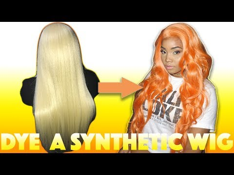 HOW TO DYE A SYNTHETIC WIG | BEAUTYBYAMEERA