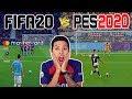 FIFA20 vs PES2020 ⚽️ PSG vs Juventus | Barça vs Manchester City | Gameplay Comparacion