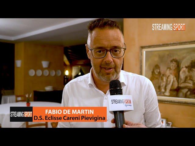 Fabio De Martin D.S. dell'Eclisse Careni Pievigina ai microfoni di Streamingsport