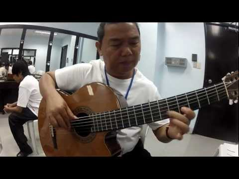 Bebot Alegre with the Cebu Classical Guitar Emsemble