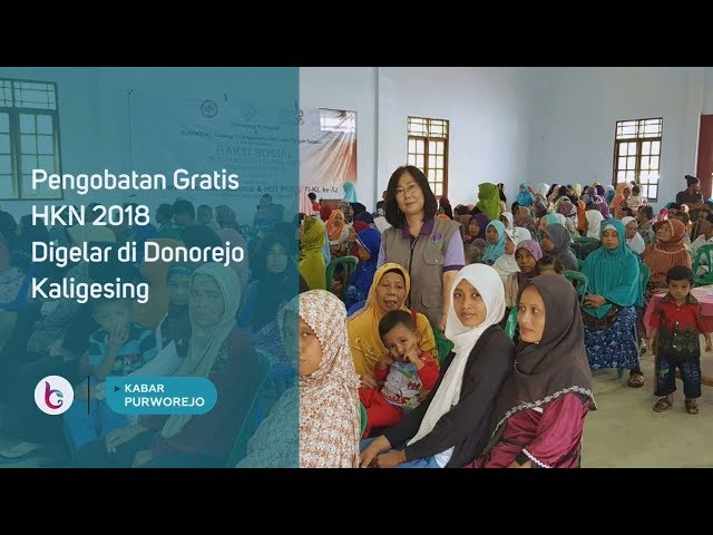 Pengobatan Gratis HKN 2018 Digelar di Donorejo Kaligesing