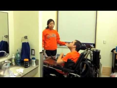 Stand Pivot Transfer From Chair To Bed Youtube