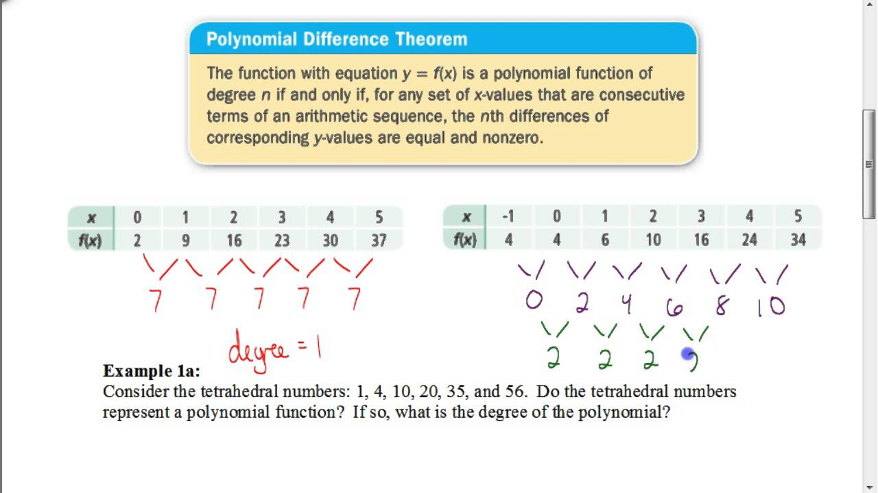 Lesson 7.2 Using the Polynomial Difference Theorem - YouTube