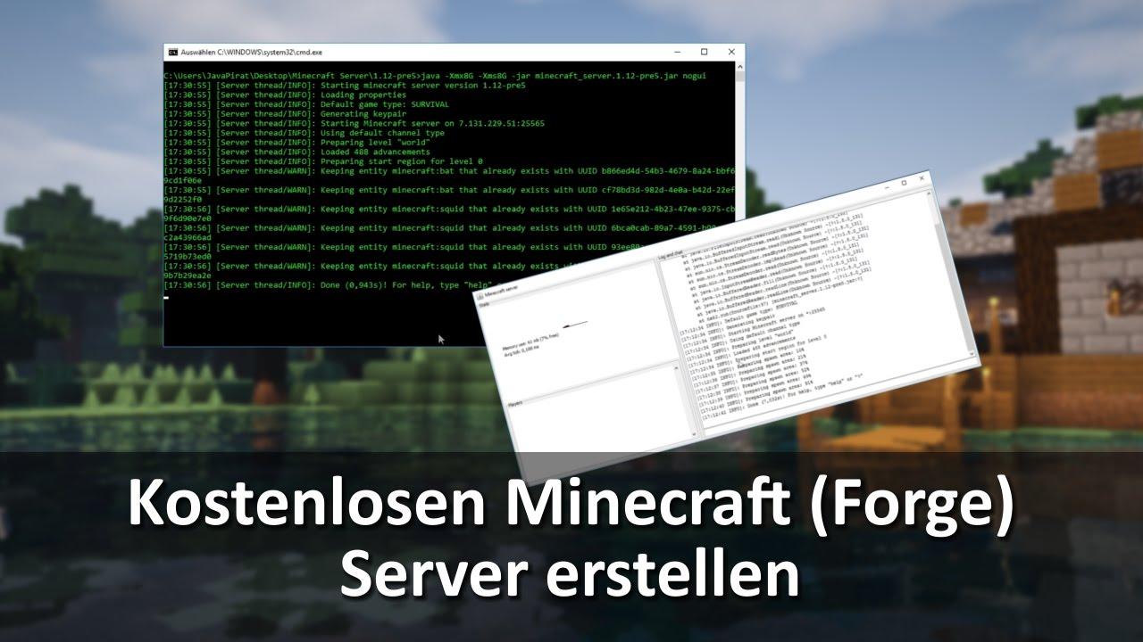 Minecraft Tutorial Kostenlosen Minecraft Forge Server Erstellen - Minecraft server erstellen forge