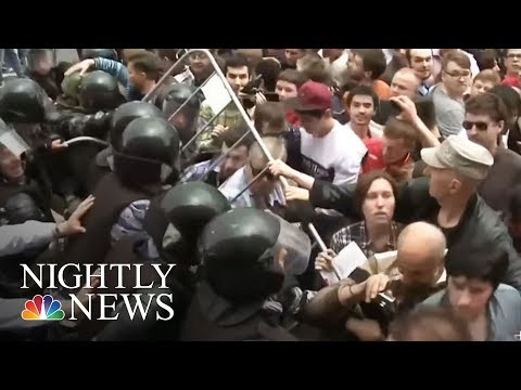 Russian Opposition Leader Arrested Ahead Of Mass Protests Monday | NBC Nightly News