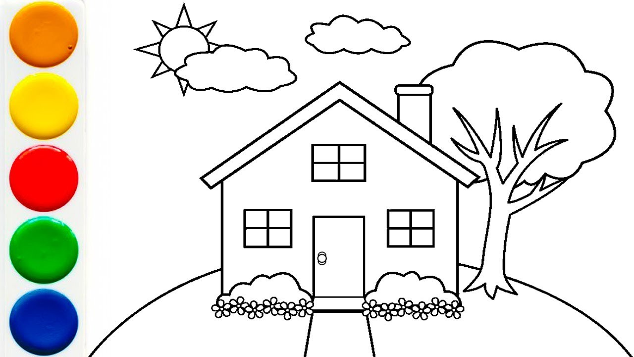 House Drawing for Kids | House Coloring Pages for Kids ...