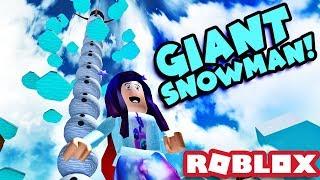 GIANT SNOWMAN! ☃️ | Roblox Snowman Simulator