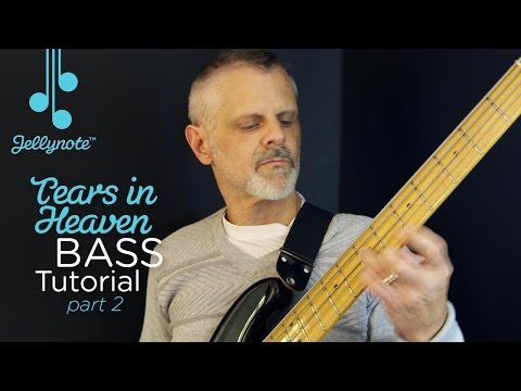 Tears in Heaven by Eric Clapton (Part 2) - Easy Bass Tutorial (Jellynote)