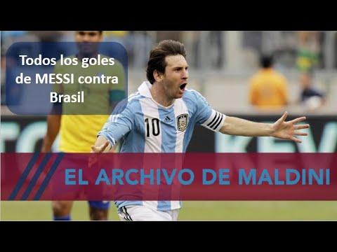 Messi a Brasil, todos sus goles aquí. Un recital. #MundoMaldini