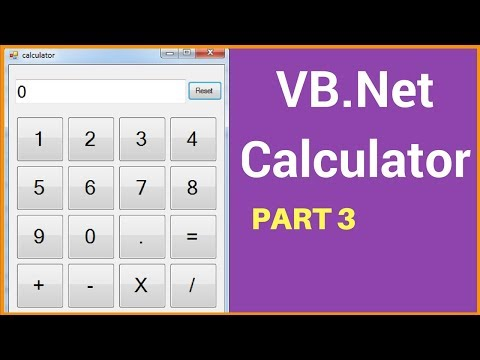 VB.NET - How To Create A Calculator In Visual Basic .Net Step By Step [ with source code ] PART: 3