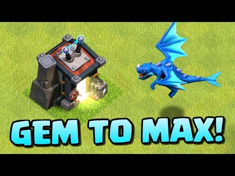 GEM to MAX ELECTRO DRAGON! Levels 1-3 Electric Dragon Attacks in Clash of Clans!