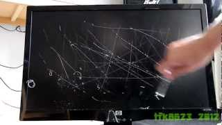 scratch test of hp 23 inch monitor s2331a lcd screen 720p hd